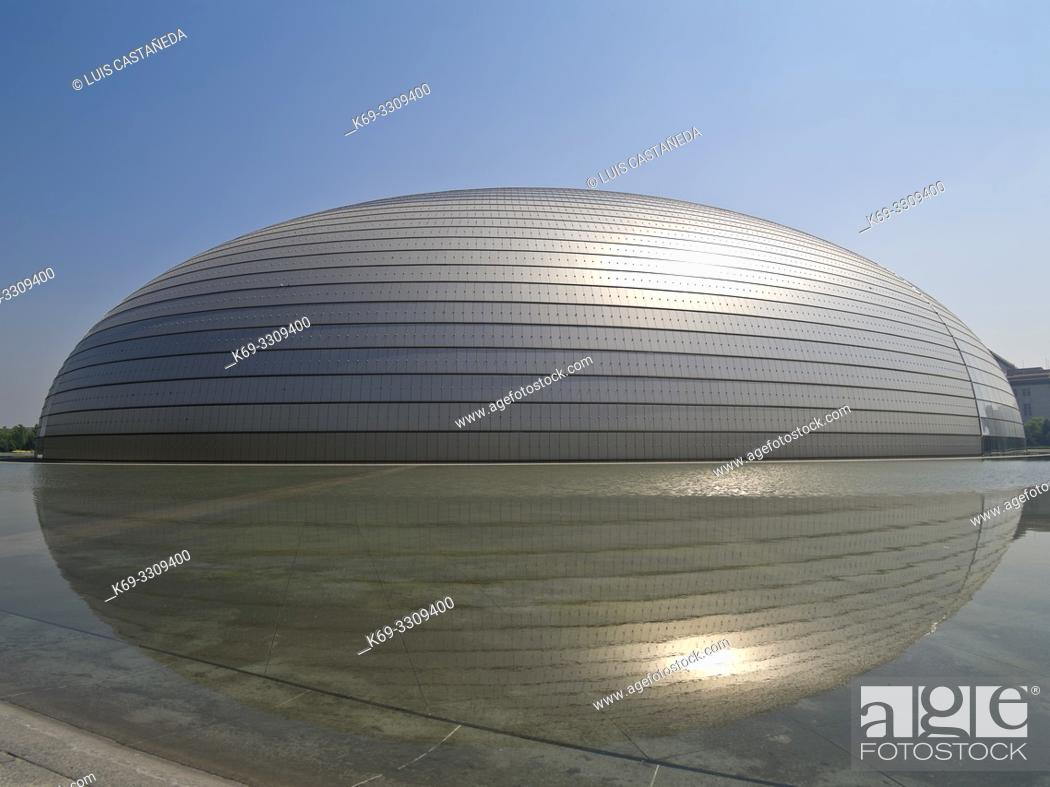 Stock Photo: National Center for Performing Arts. Beijing. China. . The National Centre for the Performing Arts (NCPA) , and colloquially described as The Bird's Egg.