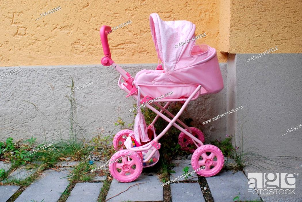 Stock Photo: Pink buggy.
