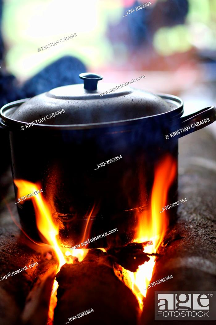 Pot On The Open Fire Cooking Water Papua Indonesia Southeast Asia Stock Photo Picture And Rights Managed Image Pic K90 2082364 Agefotostock