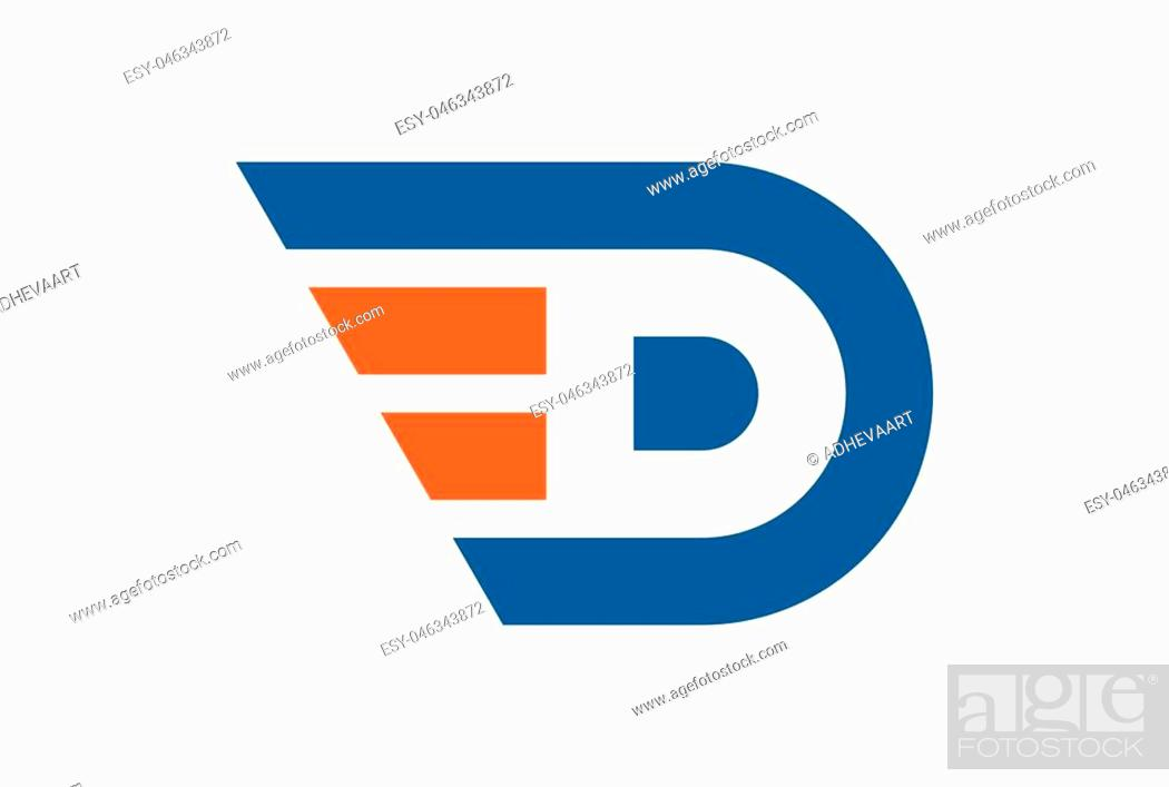 Vector: letter D abstract fast concept logo icon.