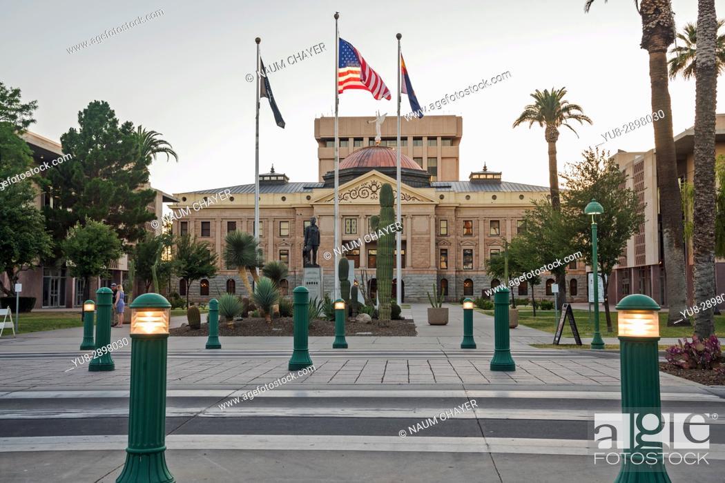 Stock Photo: Arizona State Capitol Museum, original capitol building, Phoenix, capital of state Arizona, USA.