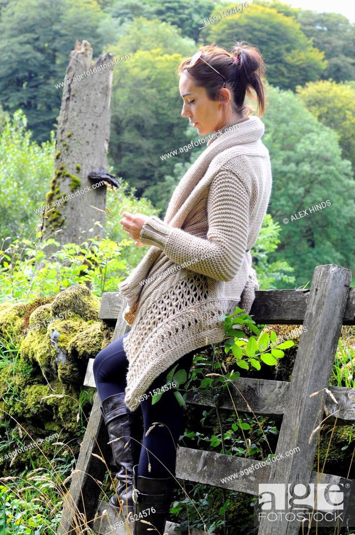 Stock Photo: Woman in rural setting.