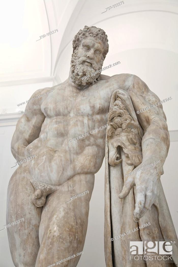Stock Photo: Farnese Hercules statue. National Archaeological Museum. Naples. Italy.