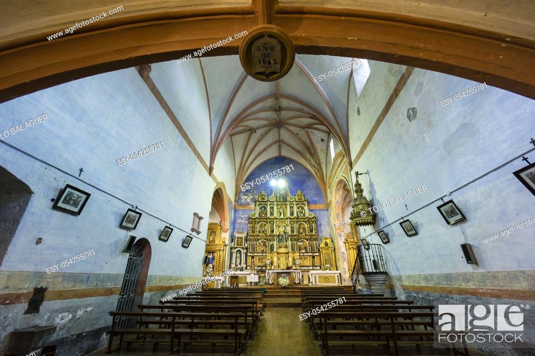 Stock Photo: parroquia de nuestra señora de la asuncion, Kontrasta, Alava, valle de Arana, Euzkadi, Spain.