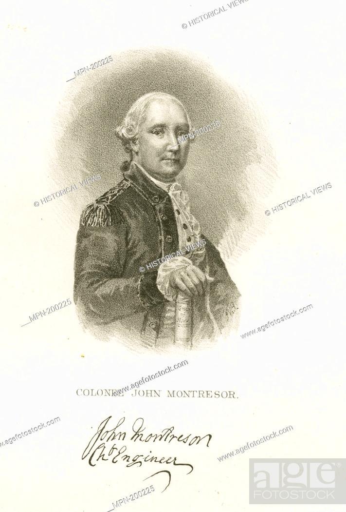 Imagen: Colonel John Montresor. Emmet Collection of Manuscripts Etc. Relating to American History. Booth's History of New York. Booth's History of New York. V.