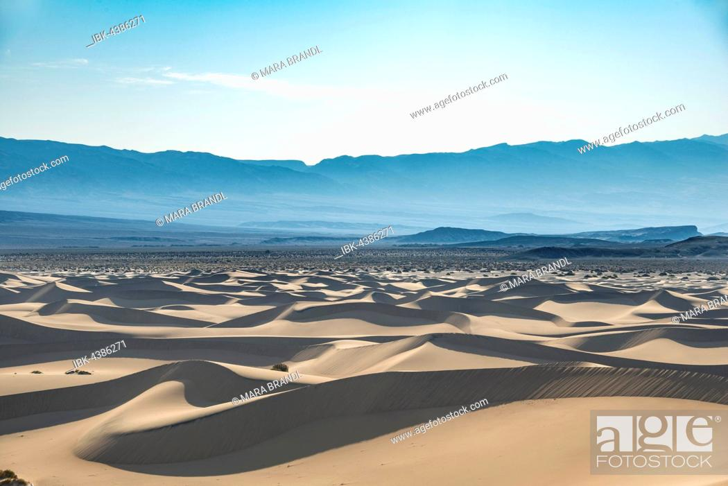 Photo de stock: Mesquite Flat Sand Dunes, sand dunes, Death Valley National Park, California, USA.