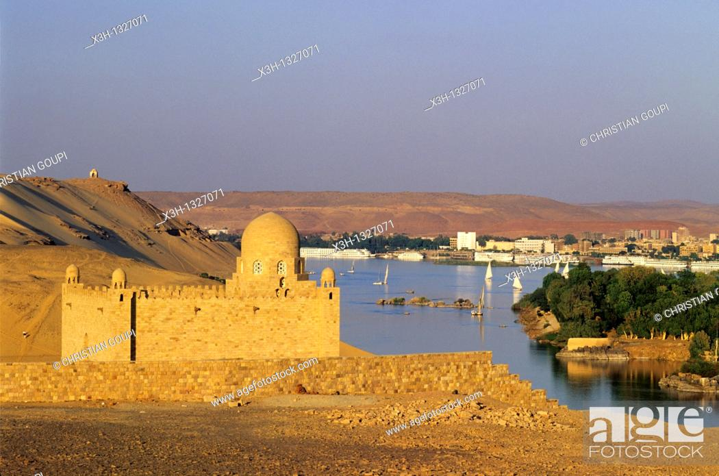 Mausoleum Of Sultan Muhammad Shah Aga Khan Iii 1877 1957 Nile River Bank Aswan Egypt Africa Stock Photo Picture And Rights Managed Image Pic X3h 1327071 Agefotostock