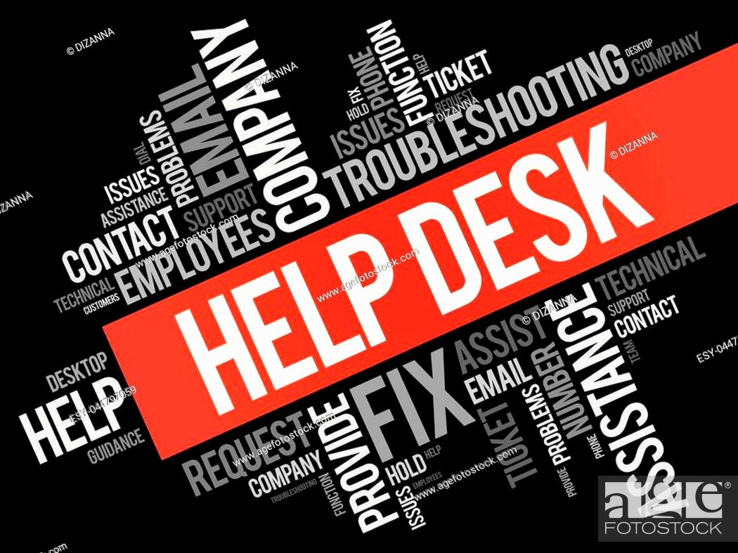 Help Desk Word Cloud Collage Business Concept Background Stock Vector Vector And Low Budget Royalty Free Image Pic Esy 044797059 Agefotostock