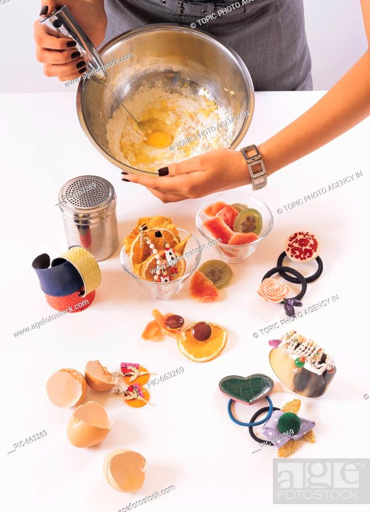 Stock Photo: Woman Cooking.