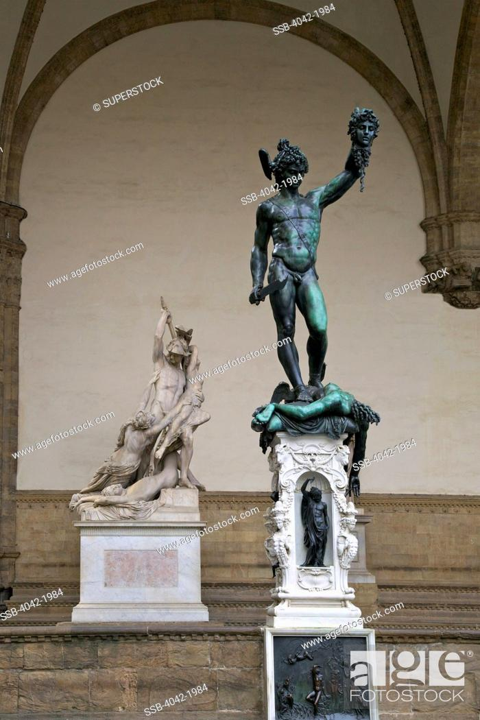 Perseus With The Head Of Medusa By Cellini 1554 Loggia