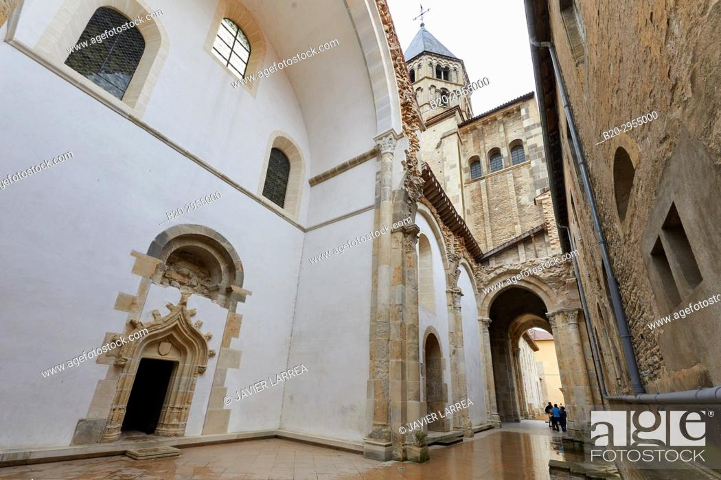 Stock Photo: Chapel of Jean Bourbon 1456-1485, Cluny Abbey, Cluny, Saone-et-Loire Department, Burgundy Region, Maconnais Area, France, Europe.