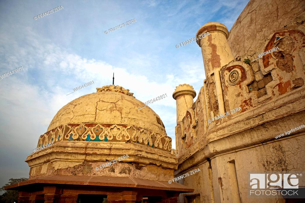 Stock Photo: Dome of Building at Hanuman's Tomb.