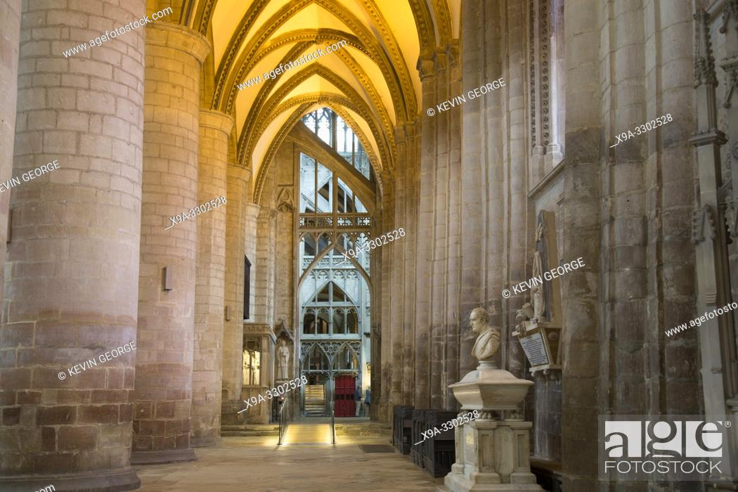 Stock Photo: Interiort of Gloucester Cathedral; England; UK.
