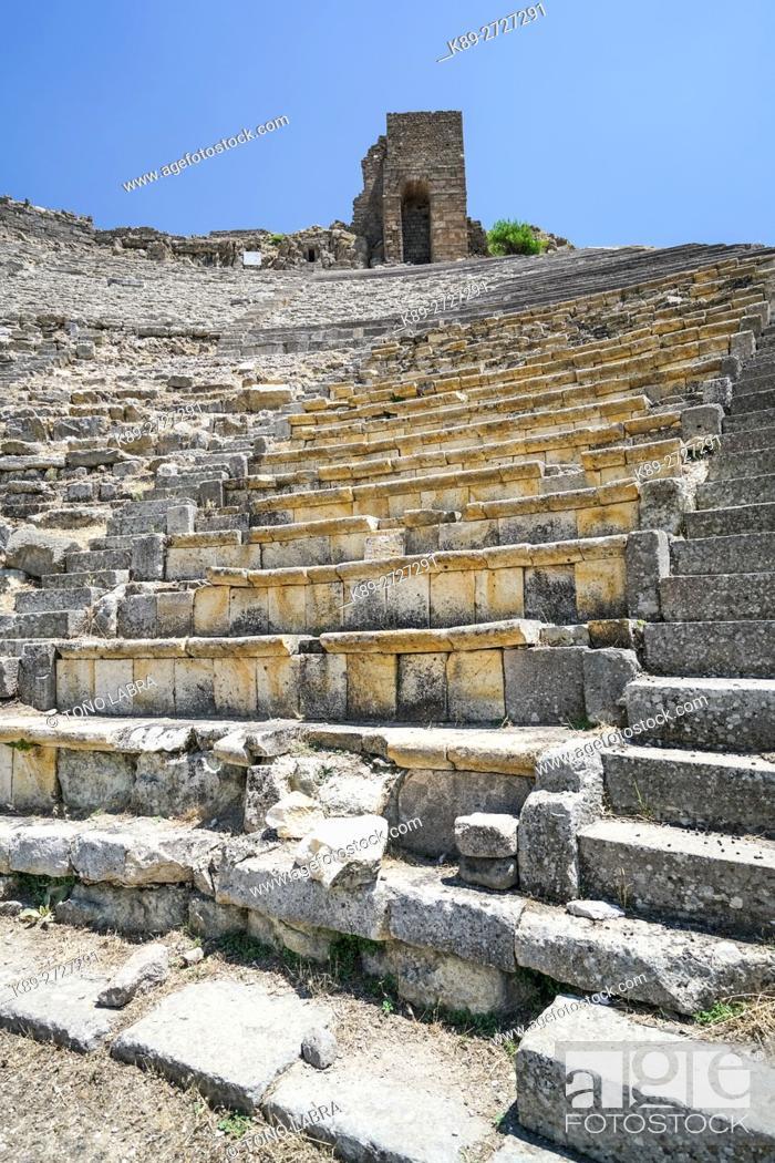 Stock Photo: Pergamon Amphytheater. Ancient Greece. Asia Minor. Turkey.