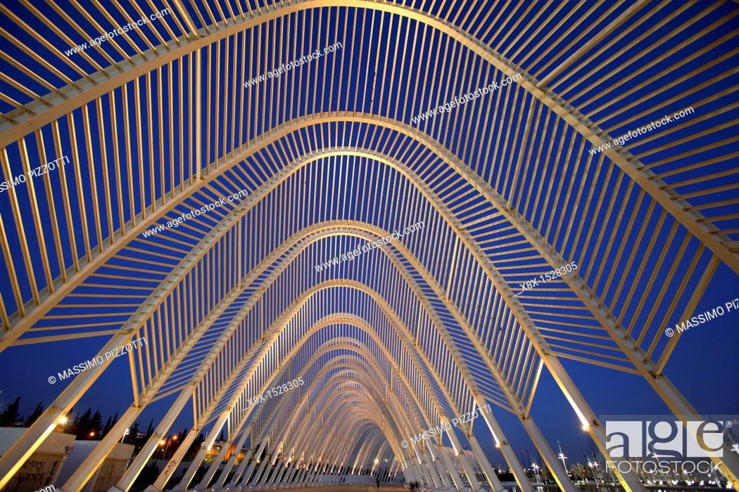 Stock Photo: Olympic Sport Complex by Calatrava, Athens, Greece.