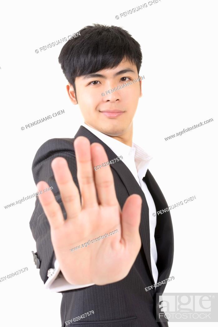 Stock Photo: stop gesture.