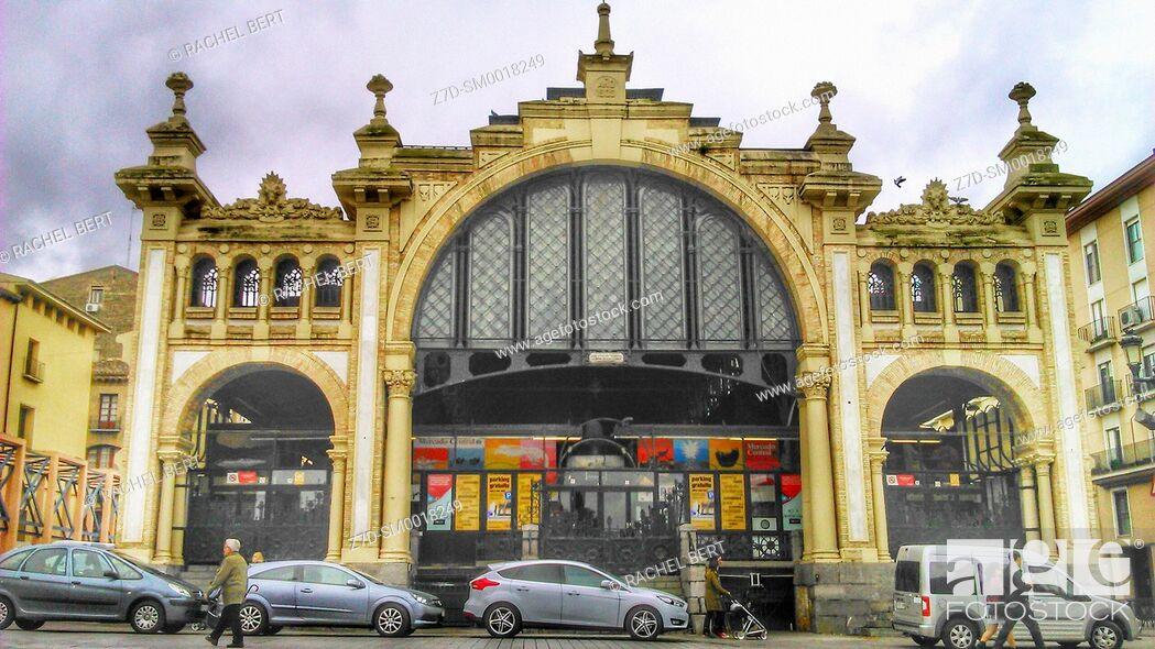 Stock Photo: Central Market, Saragossa, Aragon, Spain.