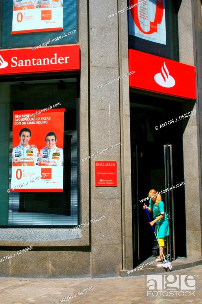 Stock Photo: Bank Santander Spain, sponsor of F1 world champion Fernando Alonso.