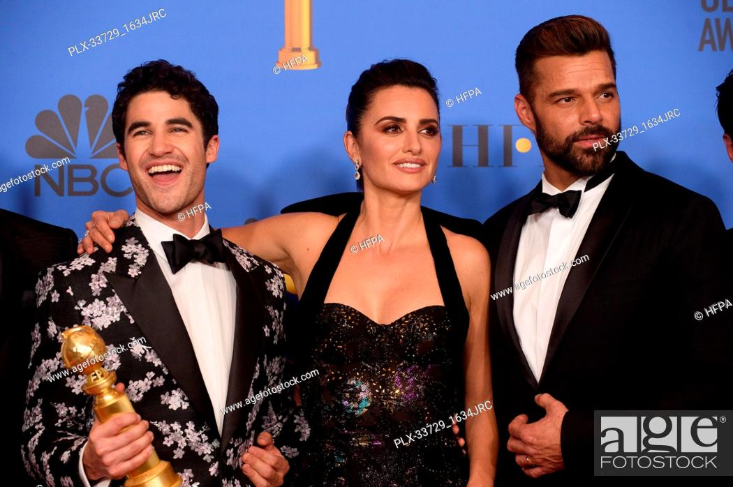 "Imagen: After winning the Golden Globe for BEST TELEVISION LIMITED SERIES OR MOTION PICTURE MADE FOR TELEVISION for """"The Assassination of Gianni Versace: American."