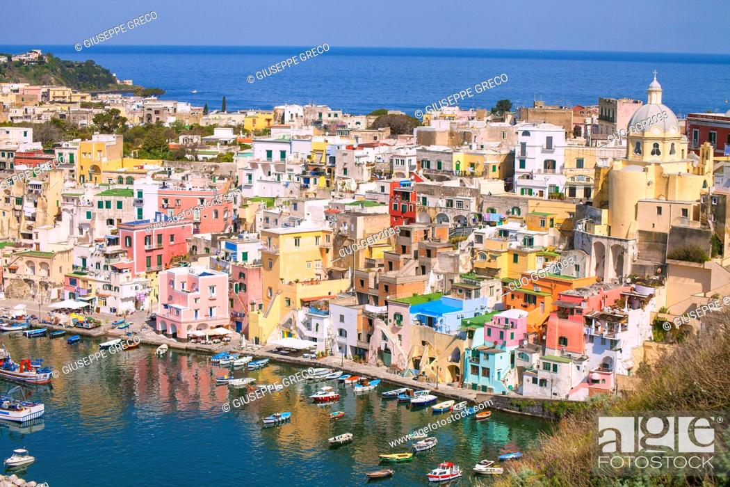 Stock Photo: Marina Corricella, Procida, Campania, Italy, Europe.