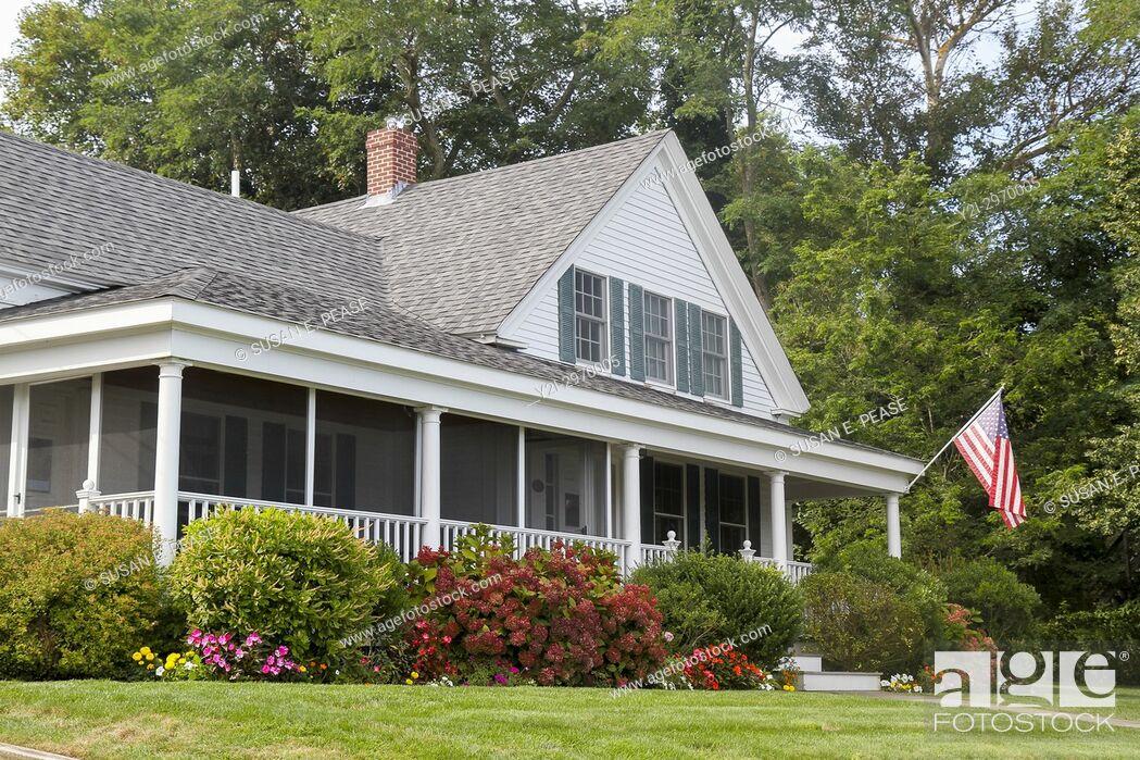 Stock Photo: A home in Wellfleet, Cape Cod, Massachusetts, United States, North America.