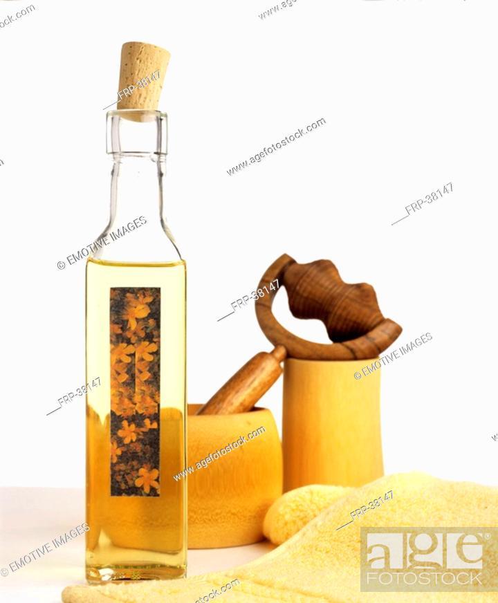 Stock Photo: St John's wort oil.