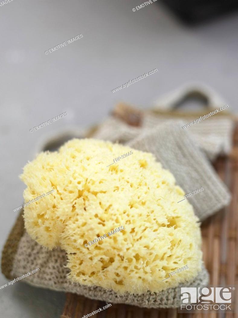 Stock Photo: Sponge and massage band.
