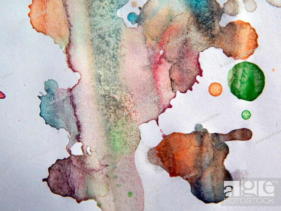 Stock Photo: Watercolor illustrations drawn paints on white paper background.