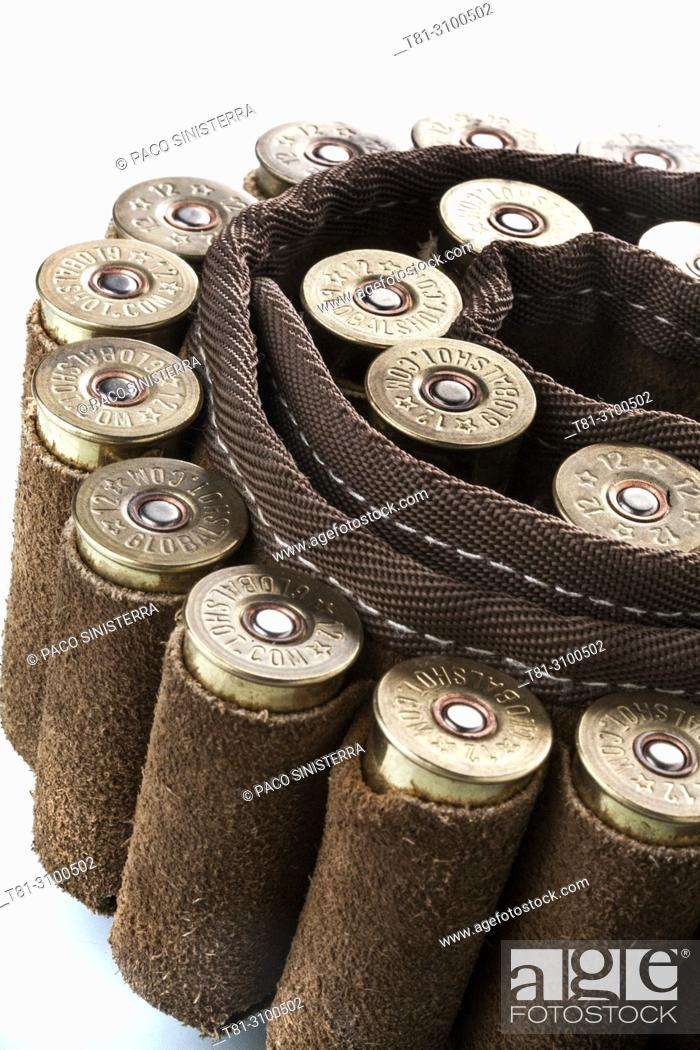 Stock Photo: Canana, shotgun cartridges, studio photography, , Valencia, Spain.