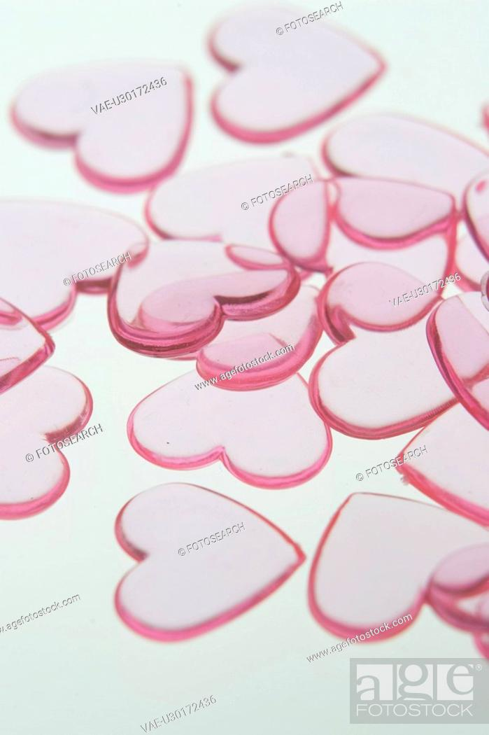 Stock Photo: Candy, Close-Up, Heart Shape, Indoors, Large Group Of Objects.