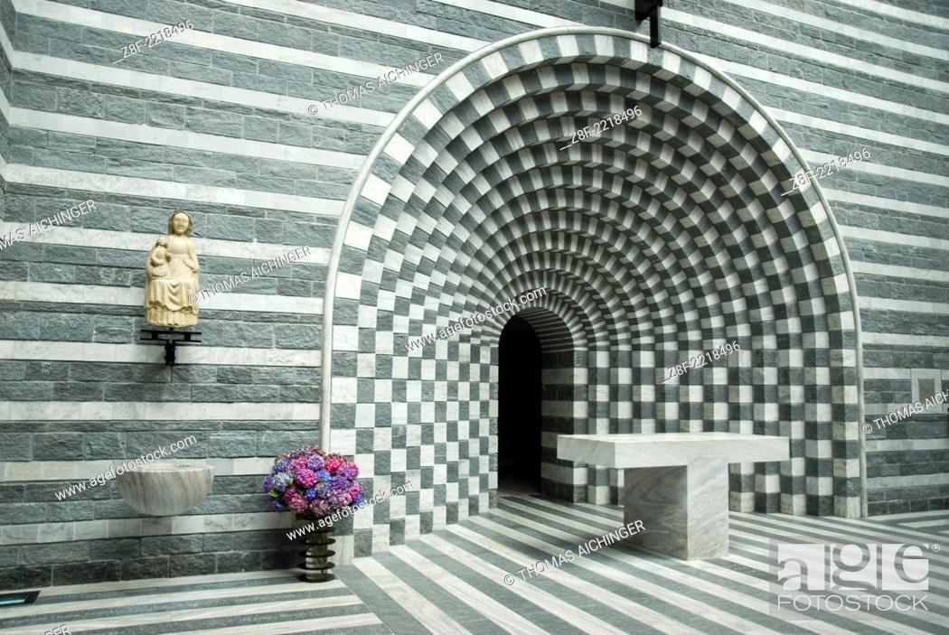 Stock Photo: Interior view of the church of San Giovanni Battista, Mogno Tessin, Switzerland.