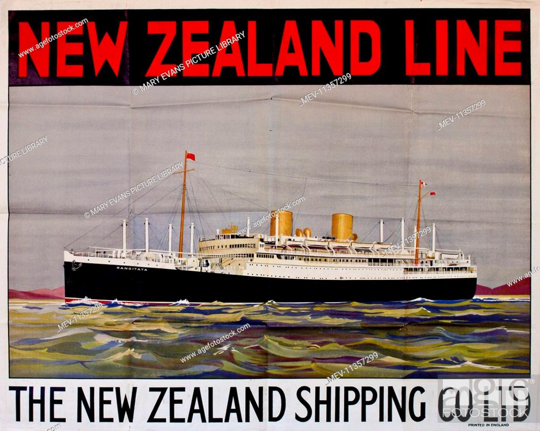 Poster advertising The New Zealand Line (The New Zealand