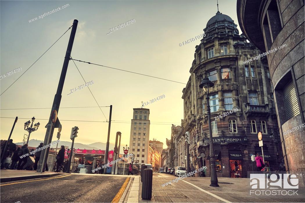 Imagen: Bilbao city center. Biscay. Basque Country. Spain.
