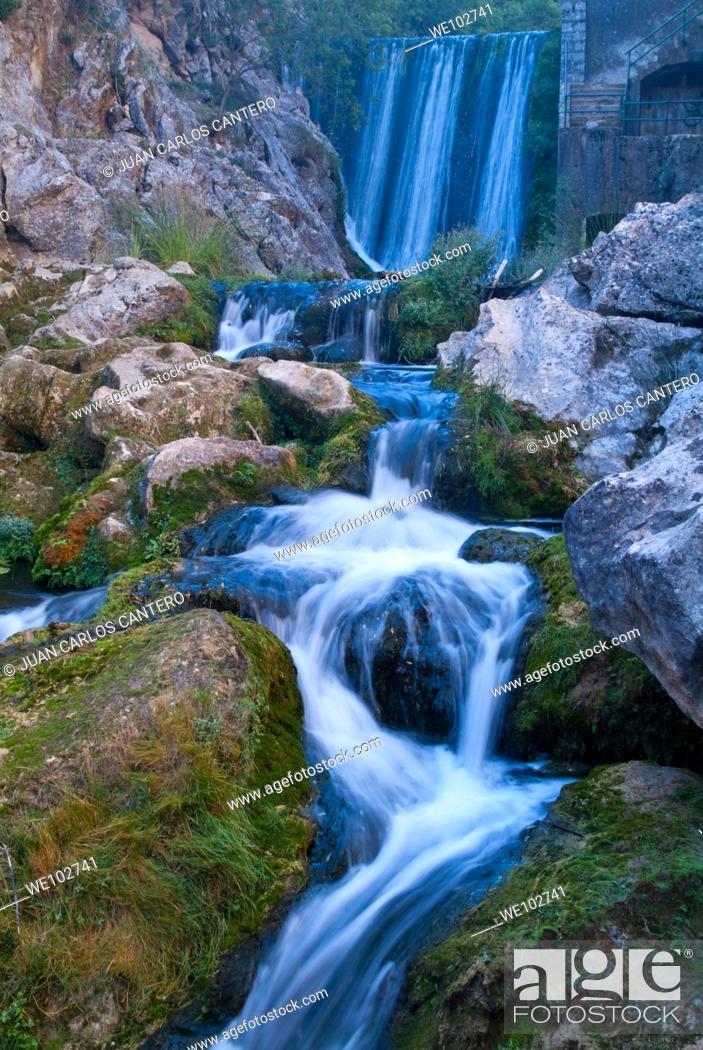 Stock Photo: River Guadalquivir, Cerrada del Utrero in the Sierra de Cazorla, Segura y Las Villas. Jaen. Andalusia. Spain. Europe.