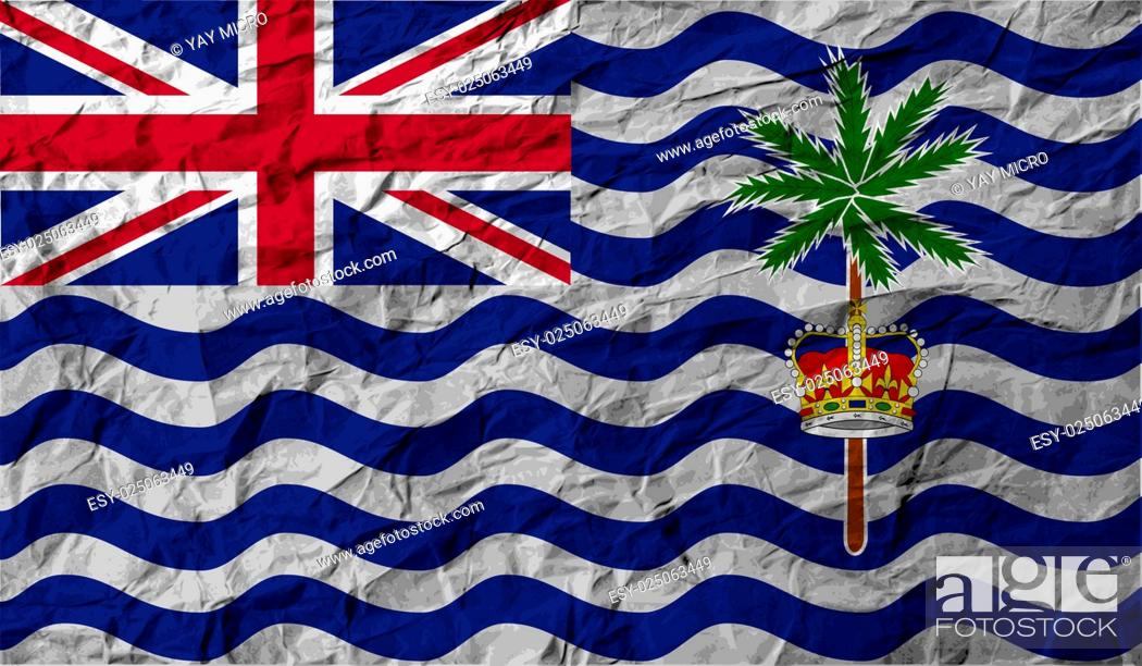 Stock Photo: Flag of British Indian Ocean Territory with old texture.