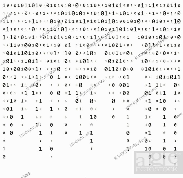 Binary Code Zero One Matrix White Background Beautiful Banner Wallpaper Design Illustration Stock Vector Vector And Low Budget Royalty Free Image Pic Esy 043012469 Agefotostock
