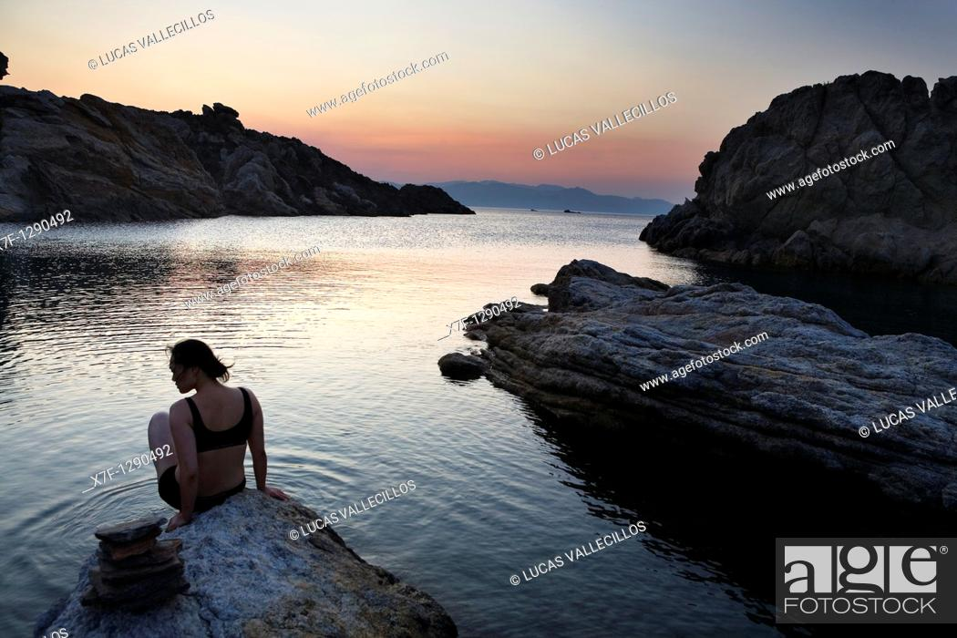 Stock Photo: Culleró cove  Cap de Creus Natural Park  Landscape that inspired some of Dalí's paintings Costa Brava  Girona province  Catalonia  Spain.