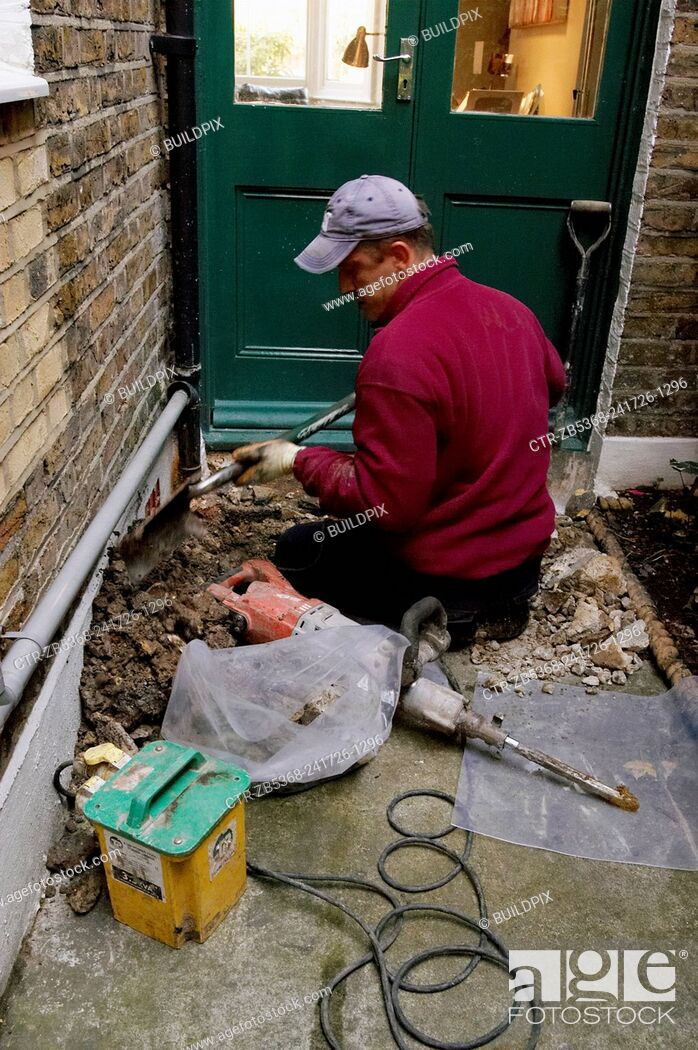Imagen: Drain investigation on domestic property. UK.