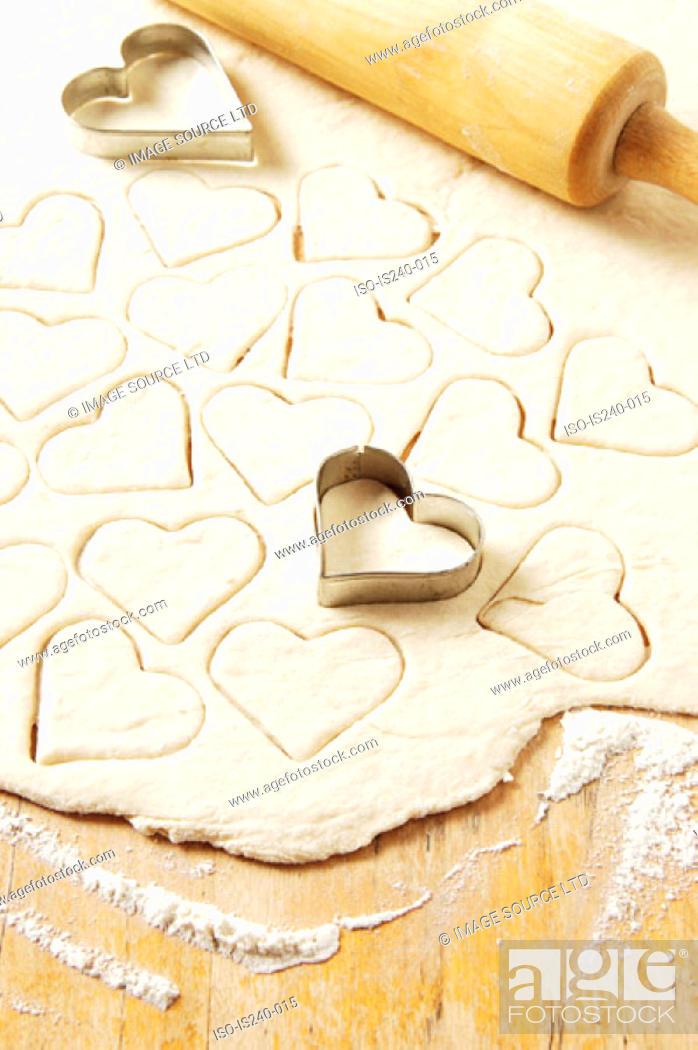 Stock Photo: Heart shaped pastry cutters.