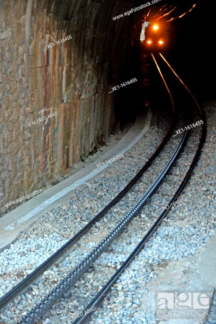 Stock Photo: tunnel, cog railway, Vall de Nuria, Catalonia, Spain.
