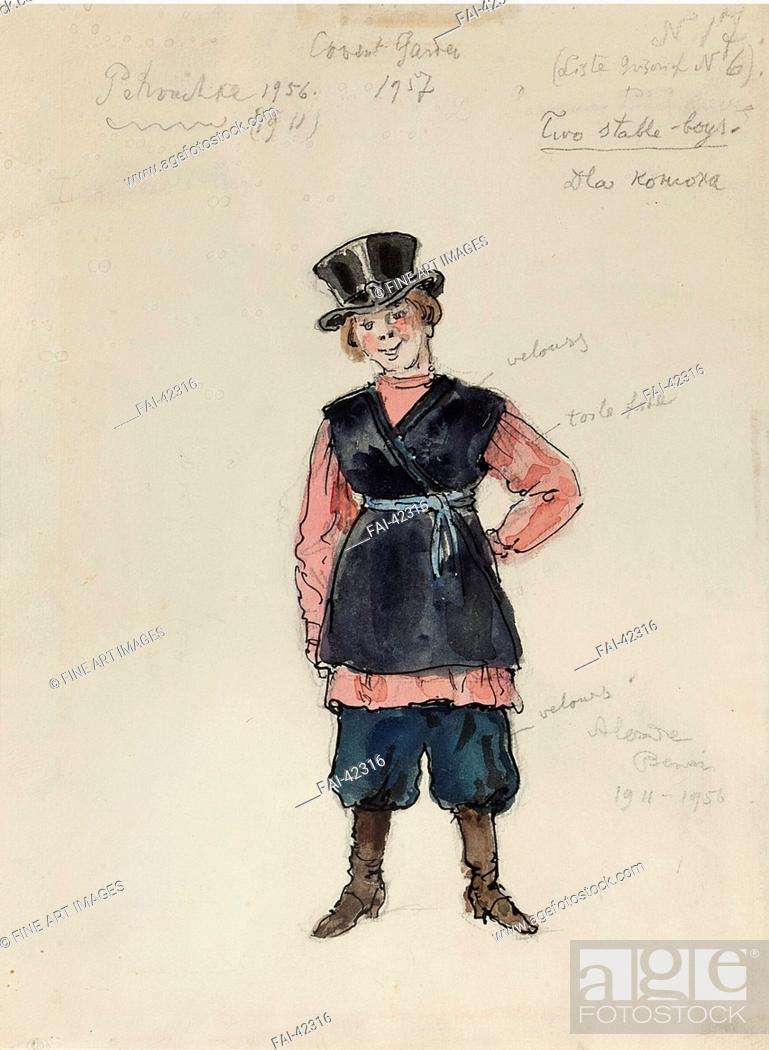 Stock Photo: Costume design for the ballet Petrushka by I. Stravinsky by Benois, Alexander Nikolayevich (1870-1960)/Watercolour and ink on paper/Theatrical scenic.