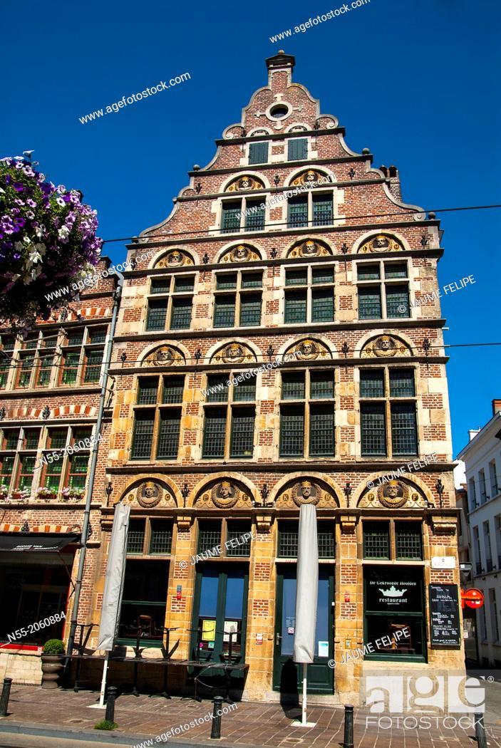 Stock Photo: Facade. Ghent, West Flanders, Belgium.