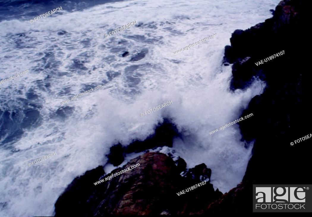Stock Photo: landscape, scene, scenery, wave, rock formation, nature.