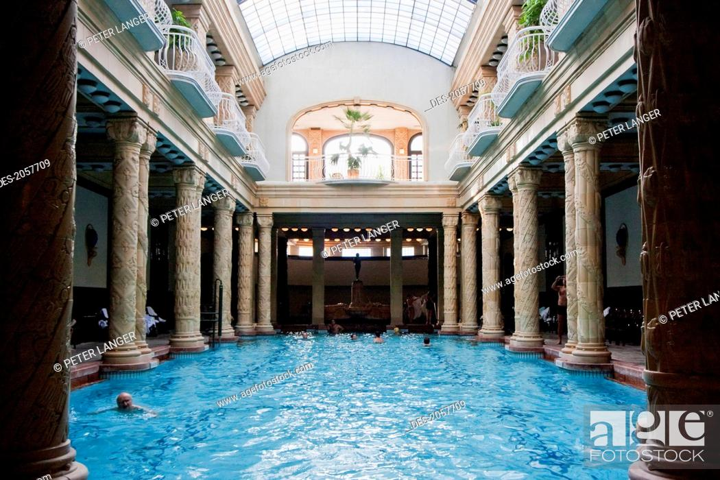 Pool At The Gellert Baths, Budapest, Hungary, Stock Photo, Picture ...
