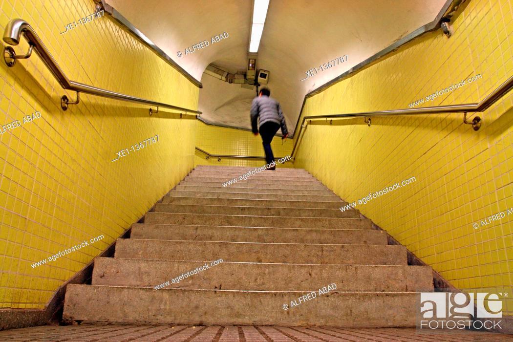 Stock Photo: corridor from padua's stop of railways, Barcelona, Catalonia, Spain.