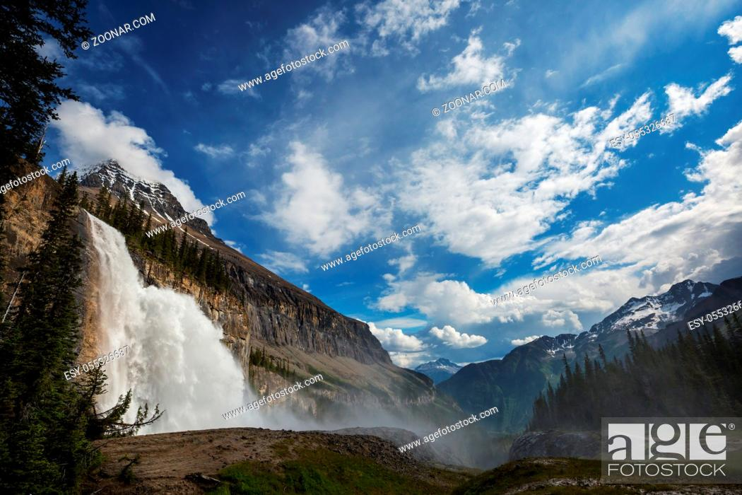 Stock Photo: Beautiful Waterfall in Canadian mountains.