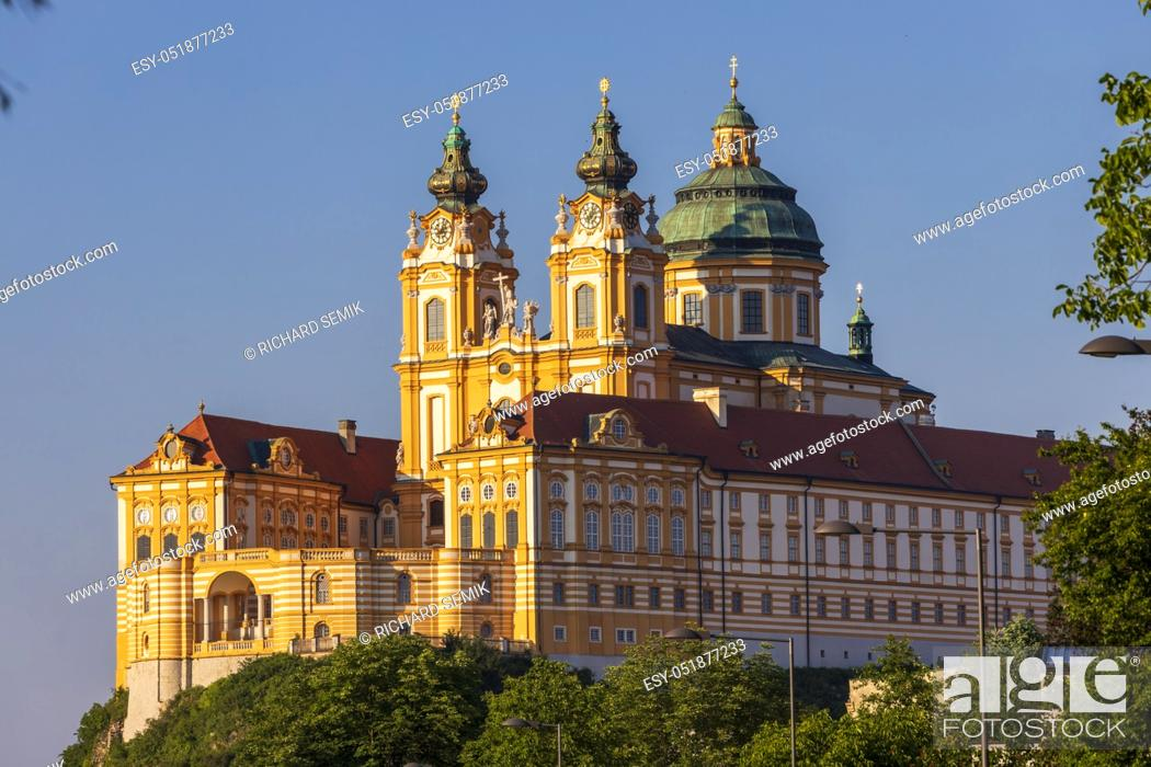 Stock Photo: Monastery Melk in north Austria.