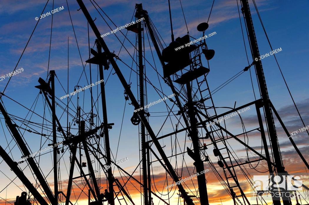 Stock Photo: Commercial fishing boat, Menemsha, Chilmark, Martha's Vineyard, Massachusetts, USA.