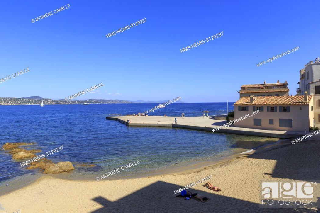 France Var Gulf Of Saint Tropez Saint Tropez Beach Of La Ponche