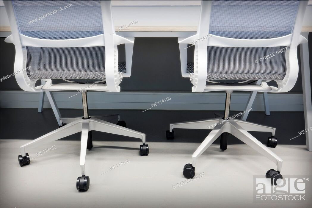 Stock Photo: Two office chairs.